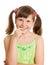 Stock Image : Dziewczyny ja target1510_0_ szczęśliwy