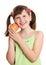 Stock Image : Dziewczyny jabłczany mienie