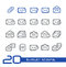Stock Image : E-mail Icons // Line Series