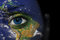 Stock Image : Earth face