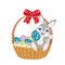 Stock Image : Easter basket width bow
