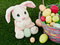 Stock Image : Easter Bunny and Easter Basket