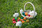 Stock Image : Easter eggs in basket