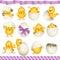 Stock Image : Easter eggs chicks