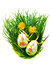 Stock Image : Easter eggs in fresh green grass