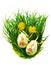 Stock Image : Easter eggs in fresh green grass