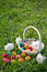 Stock Image : Easter eggs on lawn