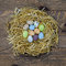 Stock Image : Easter eggs in a nest