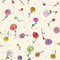 Stock Image : Easter roses seamless pattern
