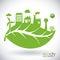 Eco city design vector illustration eps10 graphic