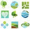 Stock Image : Ecological icons