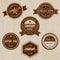 Stock Image : Vintage badges on wood background