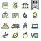 Stock Image : Education icons set