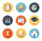 Stock Image : Educational flat icons