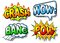 Stock Image : Effect bubbles with chrash, wow, bang and pow