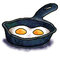 Stock Image : Eggs in a frying pan