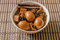 Stock Image : Eggs,tofu and pork in five spices brown sauce