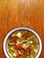 Stock Image : Eigengemaakte groentesoep