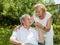 Stock Image : Elderly couple enjoying life together