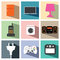 Stock Image : Electric appliance icon set illustration eps10