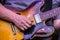 Stock Image : Electric Guitar Strum