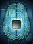 Stock Image : Electronic brain