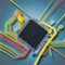 Stock Image : Electronic chip and circuit