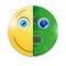 Stock Image : Electronic smiley