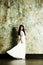 Stock Image : Elegant woman in evening dress