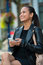 Stock Image : Elegant woman texting on smart phone