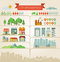 Stock Image : Elements for infographics about city and village