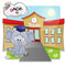Stock Image : Elephant and school