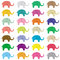 Stock Image : Elephants background5