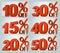 Stock Image : Em precentages da venda