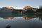 Stock Image : Emerald Lake sunset in Yoho National Park
