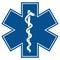 Emergency star - medical symbol caduceus snake wit
