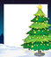 Stock Image : An empty christmas template with a christmas tree