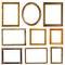 Stock Image : Empty golden frames