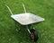 Stock Image : Empty metal wheelbarrow.