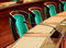 Stock Image : Empty vintage congress hall
