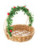 Stock Image : Empty wicker basket.