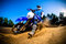 Stock Image : Enduro bike rider
