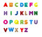 Stock Image : ENGLISH LETTERS A TO Z