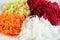 Stock Image : Ensalada de las remolachas, del nabo, de la manzana y de la zanahoria