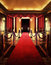 Stock Image : Entertainment theater with red carpet entrance