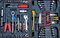 Stock Image : An entire tool kit opened to display contents.