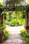 Stock Image : Entrance to fern garden