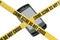 Stock Image : Escena del crimen del teléfono