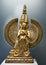 Stock Image :  Escultura de bronce mongol de la diosa