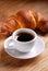 Stock Image : Espresso and croissant